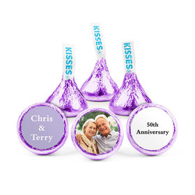 Personalized Anniversary Add Your Photo Hershey's Kisses (50 pack)