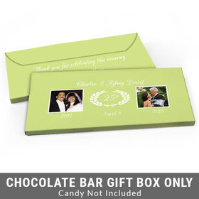 Deluxe Personalized Then & Now Photo Anniversary Candy Bar Cover