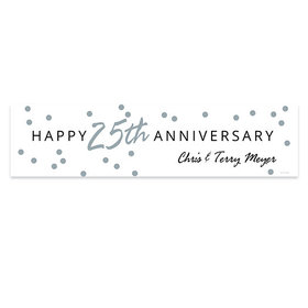 Personalized Anniversary Silver Dots Banner