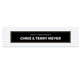Personalized Anniversary Striped Banner