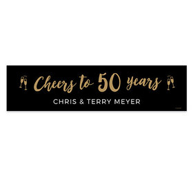 Personalized Anniversary Cheers Banner