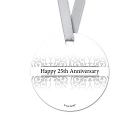 Personalized Fleur de Lis Anniversary Round Favor Gift Tags (20 Pack)