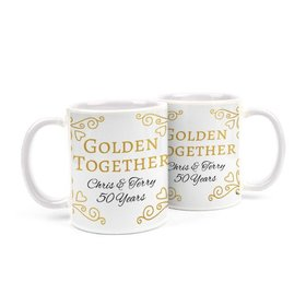 Personalized Anniversary Golden Together 11oz Mug