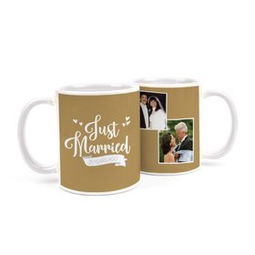 Personalized Anniversary Just Married 11oz Mug