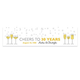 Personalized Anniversary Cheers To Love Banner