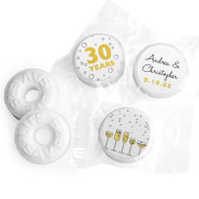 "Personalized 3/4"" Stickers - Anniversary Cheers to Love (108 Stickers)"