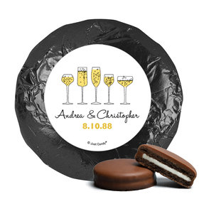 Personalized Chocolate Covered Oreos - Anniversary Cheers To Love (24 Pack)