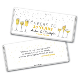Personalized Wedding Anniversary Cheers To Love Hershey's Chocolate Bar & Wrapper