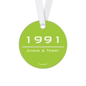 Personalized Anniversary Banner Year Round Favor Gift Tags (20 Pack)