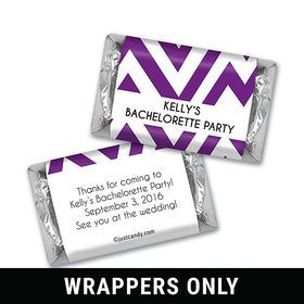 Bachelorette Party Favor Personalized HERSHEY'S MINIATURES Wrappers Chevron