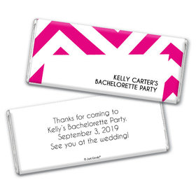 Bachelorette Party Favor Personalized Chocolate Bar Chevron