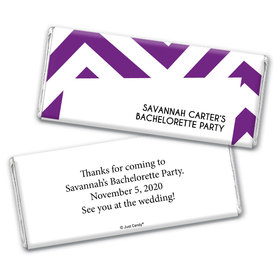 Chevron PartyBachelorette Party Favors Personalized Candy Bar - Wrapper Only