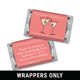 Bachelorette Party Favor Personalized HERSHEY'S MINIATURES Wrappers Martini