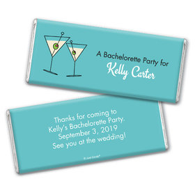 Bachelorette Party Favor Personalized Chocolate Bar Martini