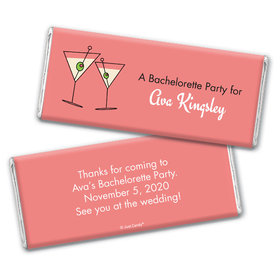 Shaken Not StirredBachelorette Party Favor Personalized Candy Bar - Wrapper Only