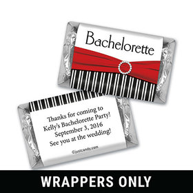 Bachelorette Party Favor Personalized HERSHEY'S MINIATURES Wrappers Glamour Stripes and Bow