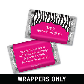 Bachelorette Party Favor Personalized HERSHEY'S MINIATURES Wrappers Zebra Stripes