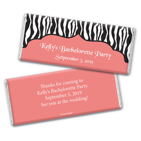 Hot Stripes Bachelorette Party Favors Personalized Candy Bar - Wrapper Only