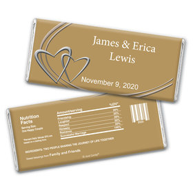 Swept Away Personalized Candy Bar - Wrapper Only