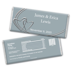 Linked Hearts Personalized Candy Bar - Wrapper Only