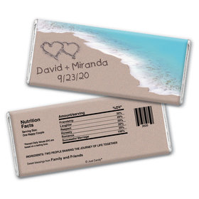 Love You Sand Personalized Candy Bar - Wrapper Only