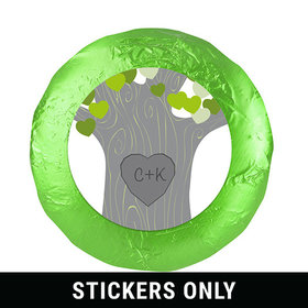 "Wedding Tree of Love 1.25"" Sticker (48 Stickers)"