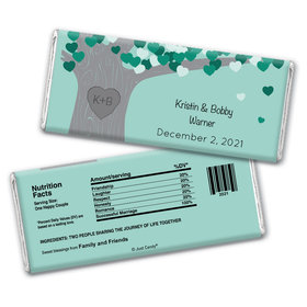 Tree of Love Personalized Chocolate Bar Wrappers