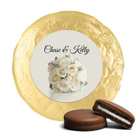 Wedding Favor Chocolate Covered Oreos White Roses Bouquet (24 Pack)