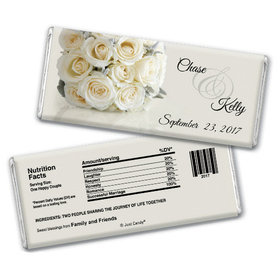 Timeless Bouquet Personalized Candy Bar - Wrapper Only