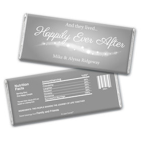 "Wedding Favor Personalized Chocolate Bar ""Happily Ever After"""