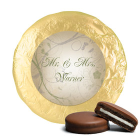 Wedding Favor Chocolate Covered Oreos Monogram Leaves Swirls (24 Pack)