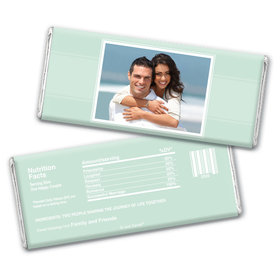 Wedding Portrait Personalized Candy Bar - Wrapper Only