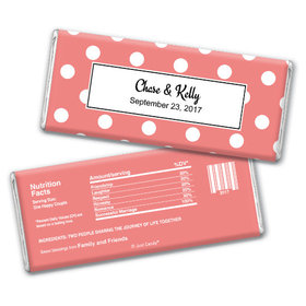 Wedding Favor Personalized Chocolate Bar Polka Dots