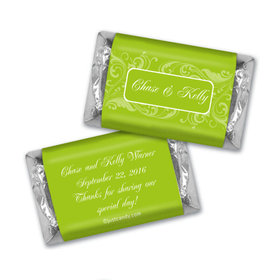 Wedding Favor Personalized HERSHEY'S MINIATURES Wrappers Filigree