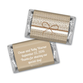 Burlap & Lace Personalized Miniature Wrappers