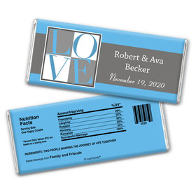 Box of Love Personalized Candy Bar - Wrapper Only