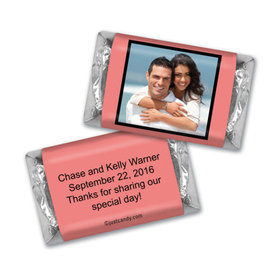 Wedding Favor Personalized HERSHEY'S MINIATURES Wrappers Photo & Message