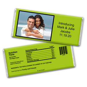 Wedding Snapshot Personalized Candy Bar - Wrapper Only
