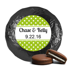 Wedding Favor Chocolate Covered Oreos Polka Dots (24 Pack)
