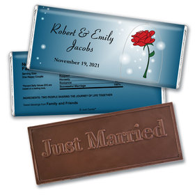 As Old As Time Personalized Embossed Just Married Bar Assembled