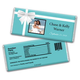 Wedding Favor Personalized Chocolate Bar Tiffany Style Gift