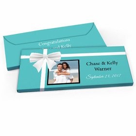 Deluxe Personalized Tiffany Style Wedding Candy Bar Favor Box