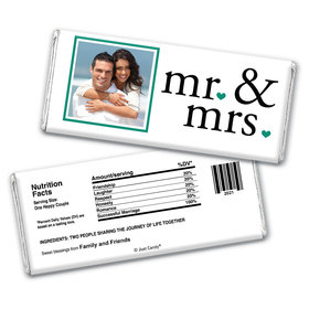 Wedding Favor Personalized Chocolate Bar Mr & Mrs Photo