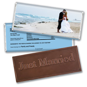Personalized Wedding Favor Embossed Chocolate Bar Full Photo