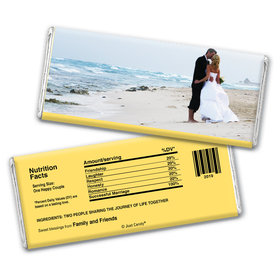 All About Us Wedding Favors Personalized Hershey's Bar Assembled