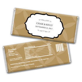 Wedding Favor Personalized Chocolate Bar Flower Petal Pattern