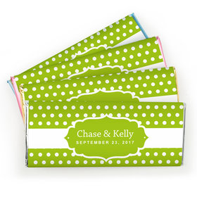 Wedding Favor Personalized Chocolate Bar Small Polka Dots