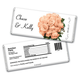 Wedding Favor Personalized Chocolate Bar Flower Bouquets
