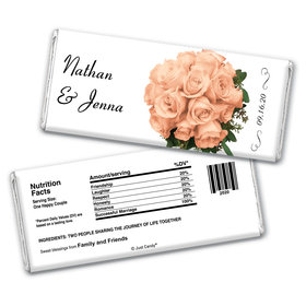 Forever Floral Personalized Candy Bar - Wrapper Only