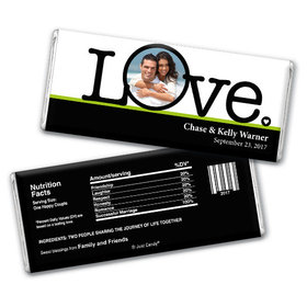 Love's the Word Personalized Hershey's Bar Assembled